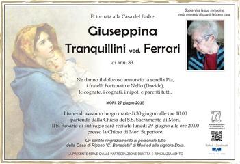Tranquillini Giuseppina ved. Ferrari