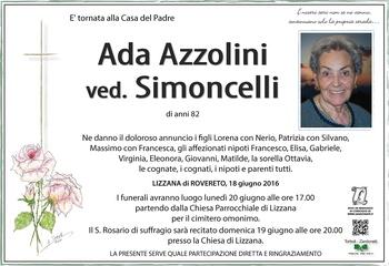 Azzolini Ada ved. Simoncelli