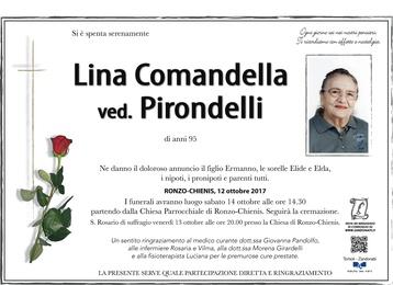 Comandella Lina ved. Pirondelli