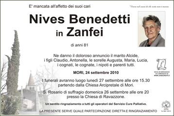 Benedetti Nives in Zanfei