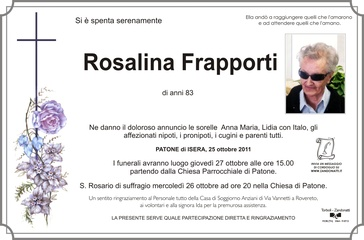 Frapporti Rosalina