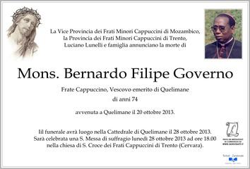 Governo Mons. Bernardo Filipe